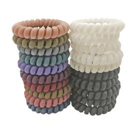 Großhandel Viele 100 Stücke Größe 5,5 cm Gum Für Haarschmuck Ring Seil Hairband Elastische Haarbänder Für Frauen Telefon Draht Haargummi