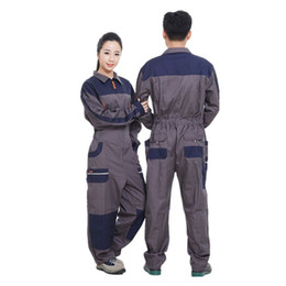 2017 Work Wear Overalls for men Fashion Tooling Loose Cargo Overalls Long  Sleeve Repairman Auto Repair Jumpsuits 071701 6a65ec2b1729