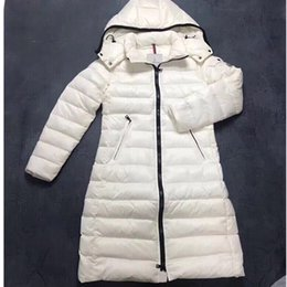 women s down parka sale Australia - Classical Women's Moka Goose Down Coats with Hooded White Winter Slim Ladies 90% White Goose Down Parka Zipper Outwear Clothing Sale