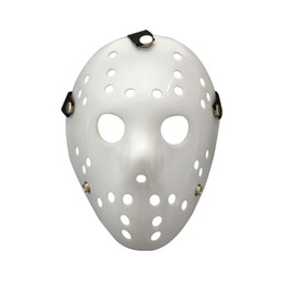 Chinese  Halloween Mask Jason Voorhees Friday the 13th Horror Movie Hockey white Mask Scary Masquerade Costume Decor Halloween props FFA778 manufacturers