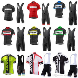 Giant bike jersey bib shorts online shopping - 2018 New Men s Giant Team Cycling Clothing Quick Dry Bike Bicycle Short Sleeve Cycling Jerseys bib shorts sets Ropa Ciclismo C0705