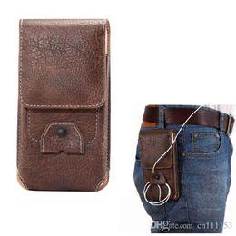 Vertical Phone Pouch Australia - Universal Holster Belt Clip Waist Men Flip PU Leather Cover Bag Horizontal+Vertical Mobile Phone Case for iphone X 8 Plus Galaxy S9 Plus