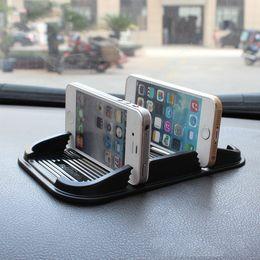 phone holder car anti slip 2019 - Universal Dual Card Slot Car Dashboard Anti Slip Mat Non-slip Pad For Key Cell Phone Iphone Smart Mobile phone GPS Holde