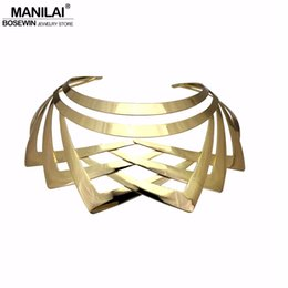 $enCountryForm.capitalKeyWord UK - Cheap Torques MANILAI Trendy Arc Hollow Metal Big Torque Choker Necklaces Women Indian Geometric Collar Statement Necklace Jewelry Wholesale
