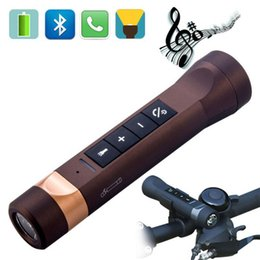 flashlight torch speaker NZ - Portable Multi-function 4 in1 Bike LED Flashlight MultiSpeaker Mini Torch MP3 Player Sport Bluetooth Speaker Flashlight + Mount Outdoor