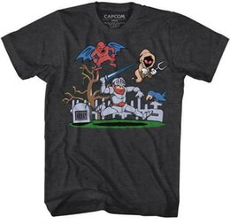 l video UK - Ghost And Goblins Arthur In The Graveyard Capcom Video Game Adult T Shirt