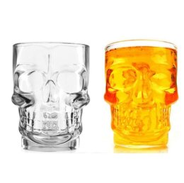 skull glasses NZ - Crystal Skull Head Glass Cup 500ML Shot Bone Vodka Whiskey Beer Bottle Bar Party Barware Drinking Mug