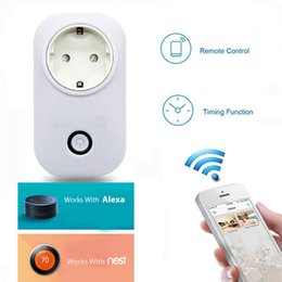 wifi smart socket Canada - Smart Remote Control Power Socket WiFi Hot Sale Outlet with Timer Function Control from Anywhere for Household Appliances-EU Plug