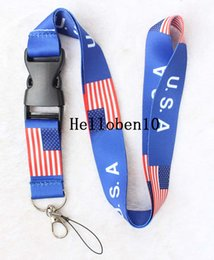 $enCountryForm.capitalKeyWord NZ - United States of America USA Flag phone Lanyard Keychain Holder New