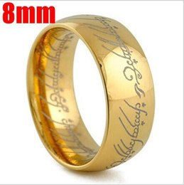 online shopping Classic popular simple The Lord of the Rings platinum plated European and American style mm lovers women wedding rings for girlfriend gift
