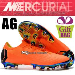 Nuevos zapatos de fútbol Mercurial Vapor XII Elite AG Calcetines naranja  negro para exteriores Calzoncillos de fútbol Superfly Botas de fútbol AG  Botas de ... 8945948f83818