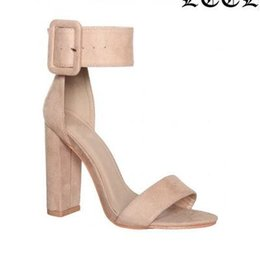 $enCountryForm.capitalKeyWord Australia - 2018 Summer New denim thick heel ladies sandals Sexy OL buckle Starp wild high heels women shoes Solid Gladiator sandals