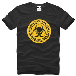 skull printed shirts Australia - Zombie Outbreak Response Team Skull Printed Mens Men T Shirt Tshirt Summer New Short Sleeve Casual T-shirt Tee Camisetas Hombre