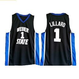 fb077825eb4 2018 Men s Lillard High Quality  1 Black Stitched Weber State Retire Damian  Basketball Jerseys Size S-2XL