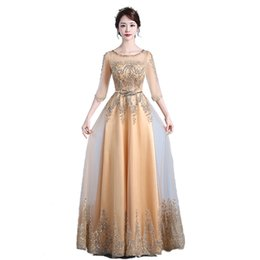 a88141c78a6 Diamonds Beading Sequined 2018 New Women s Elegant Long Gown Party Prom For Gratuating  Date Ceremony Gala Evening Dresses