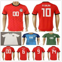 c71bf45f7 2018 Egypt World Cup Soccer Jersey 10 M.SALAH 11 KAHRABA 17 M.ELNENY 14  RAMADAN SOBHI ELMOHAMADY Custom Red White Football Shirt