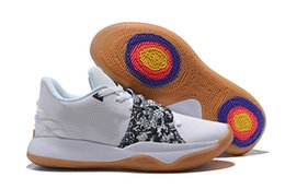 Sneaker ShoeS Sale online shopping - Hot Sale Kyrie Low Amarillo Black And Silver Gum Soles Playoffs Irving Basketball shoes Mens Sneakers Size