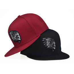 9153a99d02a 2018 New Hip Hop Indian Head Snapback Hats Chief Baseball Cap Casquette Ds  Q2 Men Women Skull Head Caps gorras para hombre beisbol chapeau