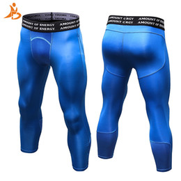 men cycling tights 2019 - YD New Compression Tight Sport Running Pant Men Jogging Leggings Fitness Gym Clothing Cool Surf Basketball Cycling Sport