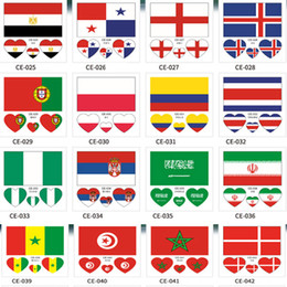 $enCountryForm.capitalKeyWord NZ - Waterproof Tattoo Sticker National Flag Banners Soccer Fans Heart-shaped on Face Arm Wrist Body Stickers 32 Teams HH7-975
