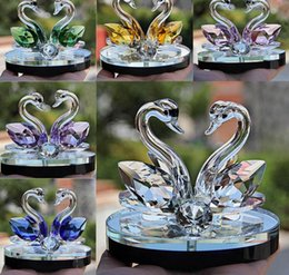 $enCountryForm.capitalKeyWord Australia - Crystal Swan Crafts Glass Paperweight Figurine Gift Crafts Ornaments Figurines Home Wedding Party Decor Gifts Souvenir 2018