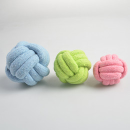 $enCountryForm.capitalKeyWord NZ - Pet Supplies Teddy Dog Biting Toy Tooth Molar Rope Style Toys Candy Color Cotton Ropes Knot Braided ball Free Ship