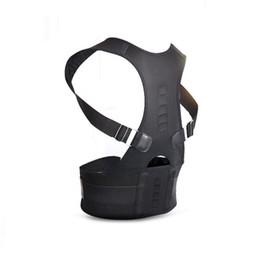 Discount magnetic posture support corrector back belt - Back Corset Magnetic Therapy Posture Corrector Adjustable Brace waist Support Shoulder Posture Belt for Men Women