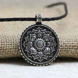 Spiritual necklaces online shopping spiritual necklaces for sale langhong 1pcs retro tibet spiritual necklace tibet mandala pendant necklace geometry amulet religious jewelry mozeypictures Choice Image