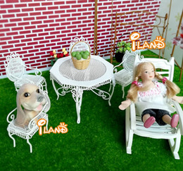 $enCountryForm.capitalKeyWord NZ - 1:12 doll house diy cabin villa mini outdoor furniture wrought iron table and chair set of 5