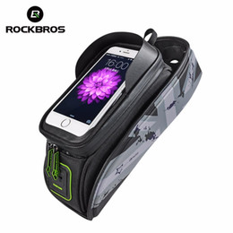 $enCountryForm.capitalKeyWord Canada - Bicycle Frame Front Tube Waterproof Bike Bag Touch Screen Bike Saddle Package For 5.8  6 in Cell Phone Bike Accessories