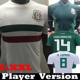 Player Version 2018 2019 México CHICHARITO J.DOS SANTOS HERRERA GUARDADO  Camisetas de fútbol 18 19 Mejico camisetas LAYUN MARQUEZ VELA Camisetas 6bb248a8950d4