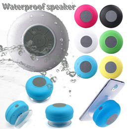 Wholesale Fashion BTS waterproof wireless hifi stereo bass speaker wall stand shower MP3 music bluetooth player for bathroom DHL shipping
