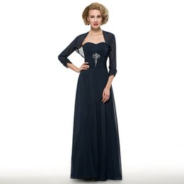 3cc76d05fe 2108 Vintage Navy Blue Sheath Sweetheart Chiffon Pleat Crystal Mother of  the Bride Dresses With A Wrap Floor-Length Mother s Dresses