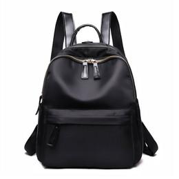 fc15b29866 Tendenze della moda Zaino nero da donna Versione coreana 2018 Sesso  semplice Retro Piccola borsa fresca Oxford Zaino impermeabile