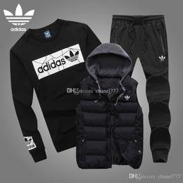 SweatSuit men online shopping - New Men s piece Sport Suits sweatshirt and pant set sweatsuit men new Jogging Suit Tracksuits L XL