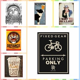 Multi Paintings Australia - FIXED GEAR PARKING ONLY Multi Size Luxury Home Decor Wall Poster Metal Tin Signs Bedroom Wall Decorations Crafts Art Painting Supplies