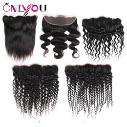 Cheap virgin brazilian human hair Closures online shopping - Cheap Brazilian Virgin Hair Lace Closure Frontal Ear to Ear For Human Hair Weave Bundles Straight Body Deep Wave Kinky Curly Hair Extensions