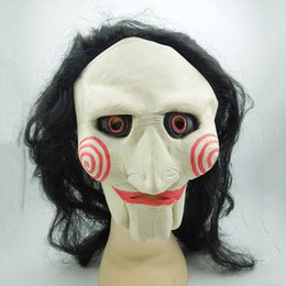 halloween puppets NZ - 2 Style Saw Movie Jigsaw Puppet Latex Mask Creepy Scary Cosplay Masks Full Face Halloween Party Costume Props 1PCS Free Shipping