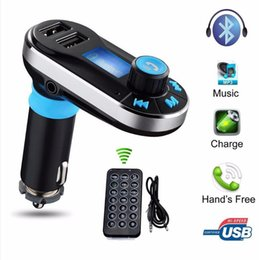 Discount kit car packages - Car FM BT66 Transmitter Bluetooth Hands-free LCD MP3 Player Radio Adapter Kit Charger Smart Mobile phone with Retail pac