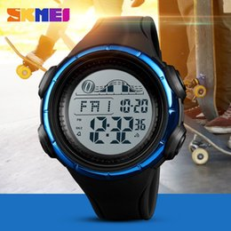 mens large sport watches Canada - New SKMEI Top Brand Luxury Fashion Mens Multi-function Large Dial Waterproof Countdown Dual Time Watch LED Digital Sport Watches