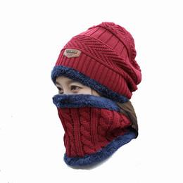 China 2018 Brand Beanies men winter hat Balaclava Knitted scarf cap neck warmer Winter Hats for Men women skullies beanies warm Fleece dad cap suppliers
