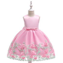 $enCountryForm.capitalKeyWord UK - Pink Flower Girl Dresses for weddings cheap Formal Sleeveless little girls pageant dress kids evening gown