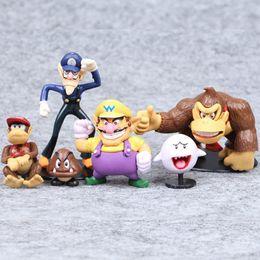 $enCountryForm.capitalKeyWord NZ - Super Mario Bros 6pcs PVC Video Game Cartoon Action Figures Kids Collectable Model Christmas Gift Toys for Children
