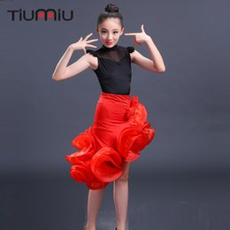 d43e79f8a Red salsa dance skiRts online shopping - latin dance dress for girls  children salsa for competition