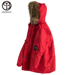 667d6e95b4e1 Asesmay 2018 New Arrival Men Coat Winter Wellensteyn Down Jacket Goose  Feather Pocketable Thick White Duck Down Military Parkas L18101102