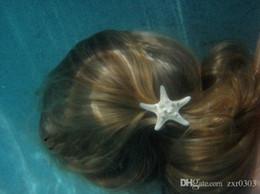 Discount starfish wedding hair - Europe Fashion Women Lady Girls Pretty Natural Starfish Star Beige Hair Clip New hair salon clip hairdressers crea hairp