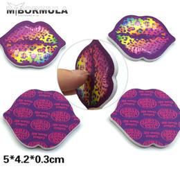 Lip Polish Australia - 10pcs cute lip shape mini Nail Art Buffer Files Pro File Manicure Device Sandpaper Buffing Sanding Polish Nail Care Tools Set