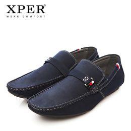 Venta al por mayor de Zapatos de hombre NUEVO Hombre Mocasines Verano Fresco Otoño Invierno Hombre Pisos Zapatos Low Man Casual Sapatos Tenis Masculino XPER