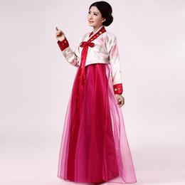$enCountryForm.capitalKeyWord UK - Women Traditional Korean Clothing Lady Cosplay Costume Embroidery Flower Hanbok Dress Dancer Performance Clothes Singer Dress