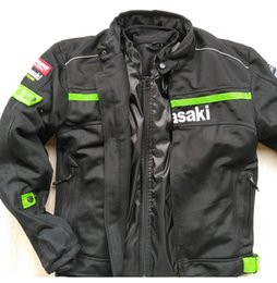 Nylon Racing Motorcycle Jacket Australia - New summer men's breathable motorcycle off-road jackets knight jackets racing jackets Racing Wear windproof have protection
